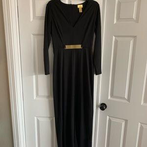H&M Long Black Dress w/ gold accents